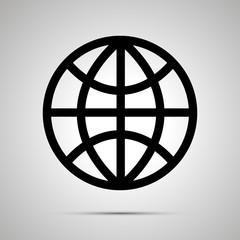 World globe simple black icon