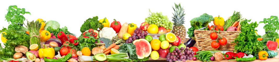 Deurstickers Groenten Vegetables and fruits background