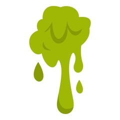 Green slime spot icon isolated