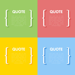 Set of circle frames for quotes