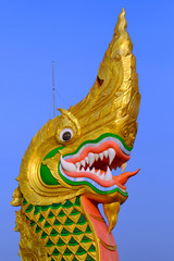 King of Nagas on blue background