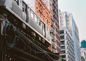 The El train in Chicago