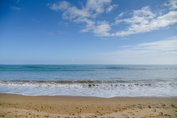 Tropical sea, beach and blue sky