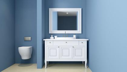 Modern bathroom. 3D rendering