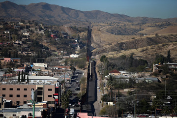 The U.S. border with Mexico is seen in Nogales
