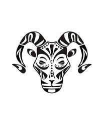 Tattoo head of the ram