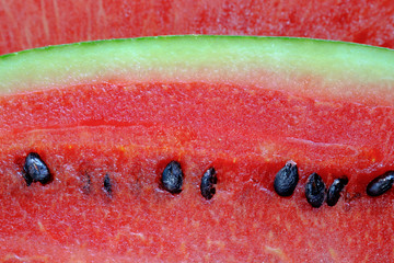 Red watermelon  close up image.