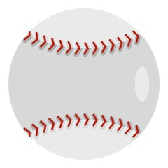 Ball for playing baseball icon isolated