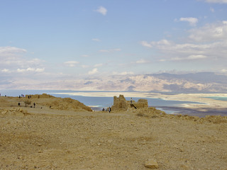 Masada fortress with view on dead sea