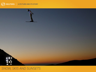 A Picture and Its Story: Snow, skis and sunsets