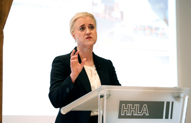 Annual press conference of the Hamburger Hafen und Logistik AG (HHLA) in Hamburg