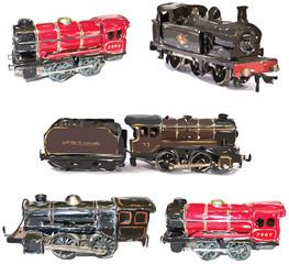 Vintage Toy Train Vectors
