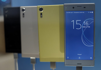 New Sony Xperia devices are displayed at Mobile World Congress in Barcelona