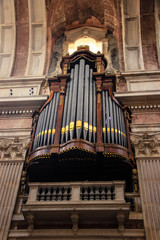 Detail from baroque pipe organ