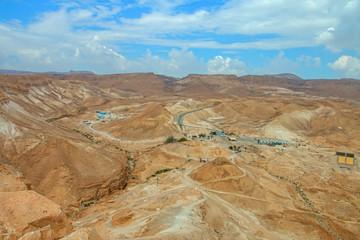 Recess Fitting Panorama Photos View from Masada fortress, Israel