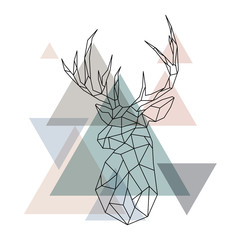 Geometric reindeer illustration