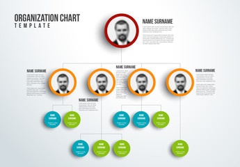 Organizational Chart Layout Template