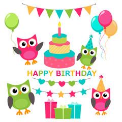 owl invitations cute celebration cards