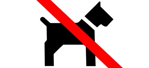 Hunde verboten Symbol