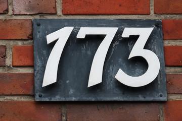 Hausnummer 173