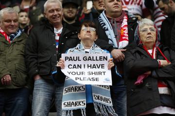 A Cronulla Sutherland Sharks fan