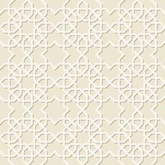 Beautiful seamless pattern of geometric elements in oriental style.