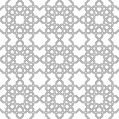 Beautiful seamless pattern of geometric elements in oriental style.