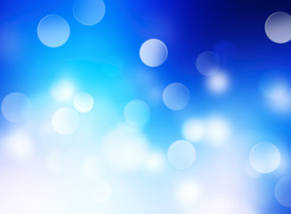 Blue blurred splash holiday bright background.