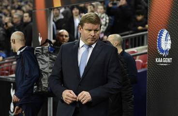 Gent coach Hein Vanhaezebrouck before the match