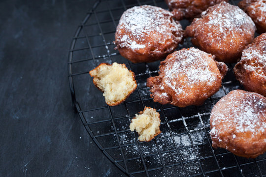 Fresh delicious homemade warm apple fritters
