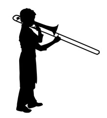 Female playing trombone