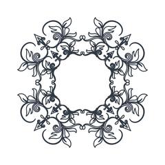 crest vintage decoration swirls emblem vector illustration