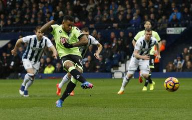 Bournemouth's Joshua King scores their first goal from the penalty spot