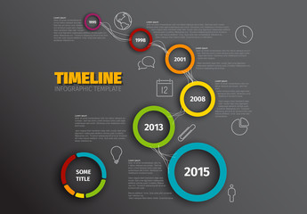 Colorful Circles Timeline Infographic