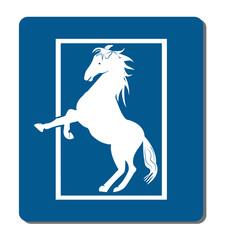 Vector - White horse logo