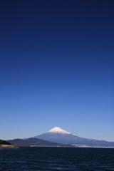 Mt. Fuji and sea, view from Mihono Matsubara in Shizuoka, Japan