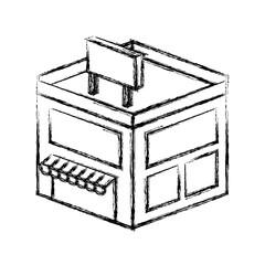 store building isometric icon vector illustration design