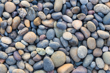 Small sea stones, gravel. Background. Textures	 Wall mural