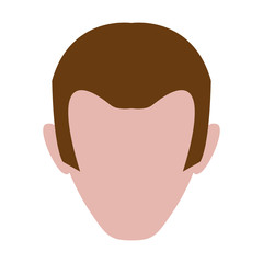 Male profile faceless icon vector illustration graphic design