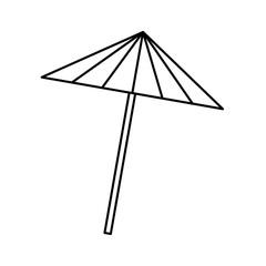 cocktail umbrella isolated icon vector illustration design