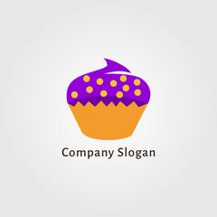 Sweet retro cupcake muffin silhouette
