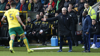 Ipswich manager Mick McCarthy gestures during the match