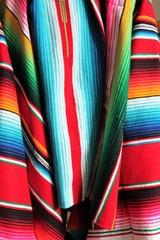 mexican poncho serape background cinco de mayo fiesta wooden copy space