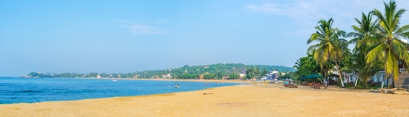 Panorama of Unawatuna beach