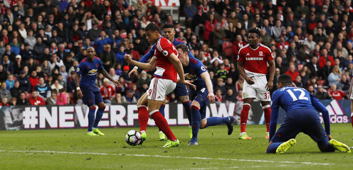 Middlesbrough's Rudy Gestede scores their first goal