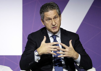 Fries, President and CEO of Liberty Global, delivers his keynote speech at Mobile World Congress in Barcelona