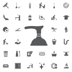 Toilet Plunger Icon.