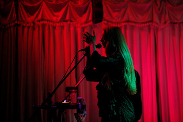 Australian Vera Blue performs at the Swan Dive, at SXSW 2017, in Austin