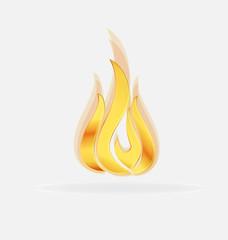 Flames campfire logo