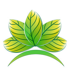 Green lotus plant logo